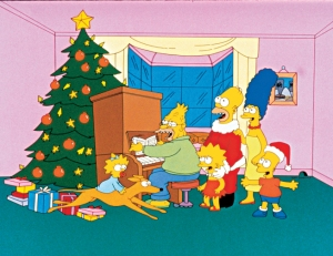 """THE SIMPSONS: The Simpson family in the series premiere """"Simpsons Roasting on an Open Fire"""" episode of THE SIMPSONS on FOX.  THE SIMPSONS ™ and © 1989 TTCFFC ALL RIGHTS RESERVED."""