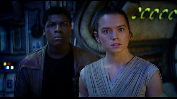 Force Awakens Finn and Rey
