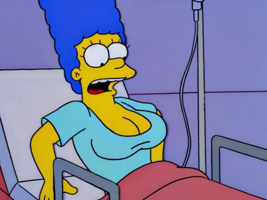 marge with a boob job