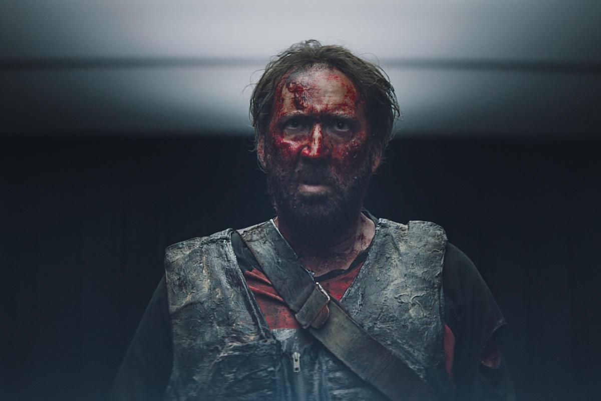 "SEPTEMBER 13, 2018: ""Mandy"" Nicolas Cage, from XYZ Films site"