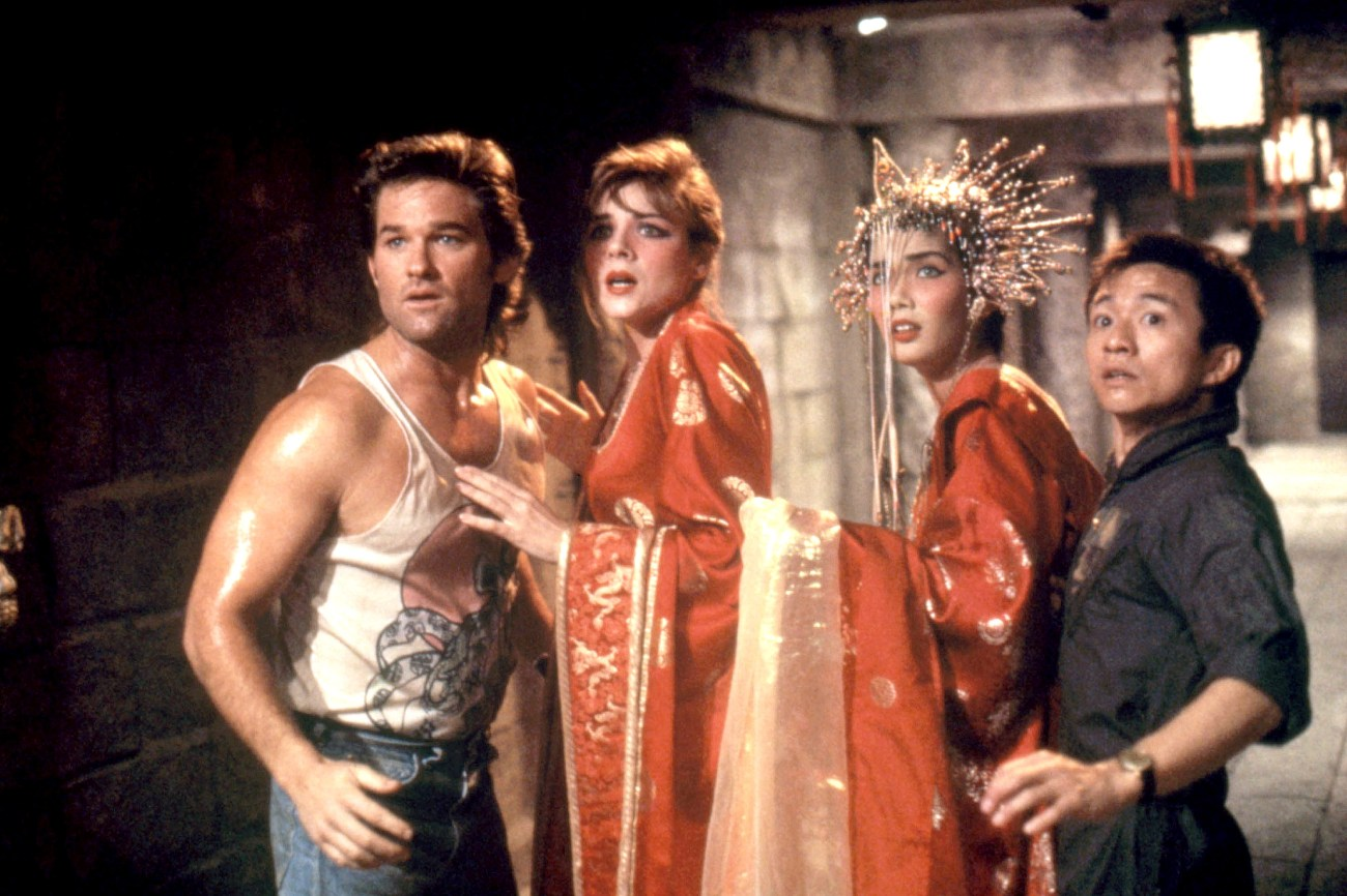 BIG TROUBLE IN LITTLE CHINA, Kurt Russell, Kim Cattrall, Dennis Dun, Suzee Pai, 1986, TM and Copyrig